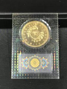 買取り堂 皇太子殿下御成婚記念5万円金貨 裏面