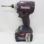 makita マキタ 充電式インパクトドライバ TD001G パープル 40Vmaxリチウムイオンバッテリー付属